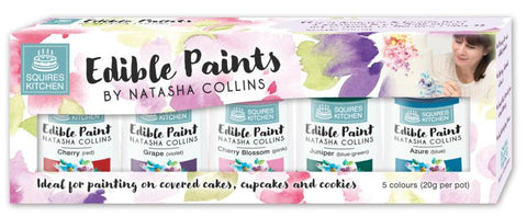 Paint - Squires Kitchen Edible Paint by Natasha Collins Set 2