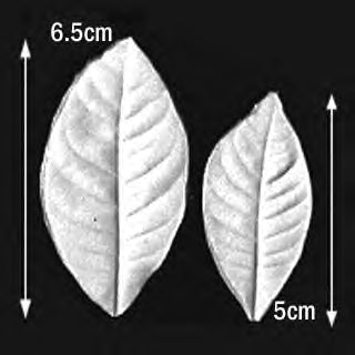 Great Impressions (SK) Leaf Veiners - Gardenia - set of 2 5.5cm/4.5cm.  GM01G001-02