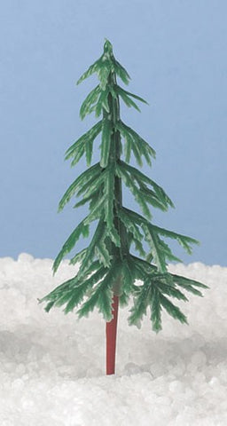 Christmas Tree - Green Plastic. 3""