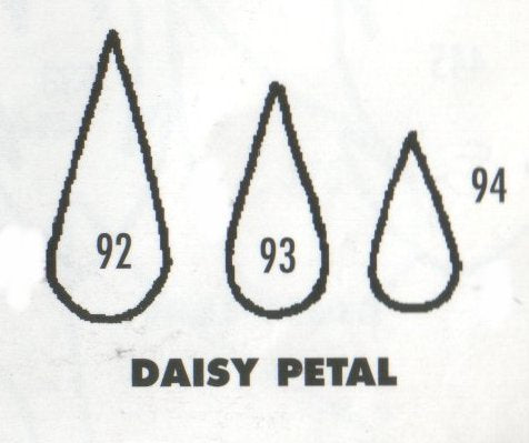 Daisy Single Petals - set of 3 92/93/94 (20mm, 17mm, 15mm).  TinkerTech Two Cutters