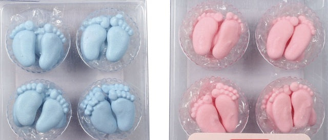 Baby's Feet.  Piped in icing.  Pack of 12