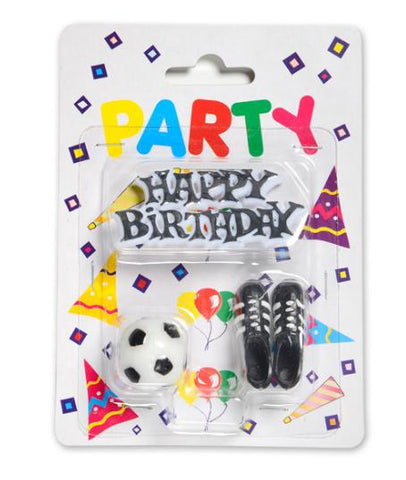 Candle Kit , Football - Happy Birthday,Ball,Boots