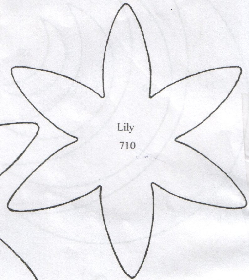 Lily 6 Petal 710 (102mm).  TinkerTech Two Cutters