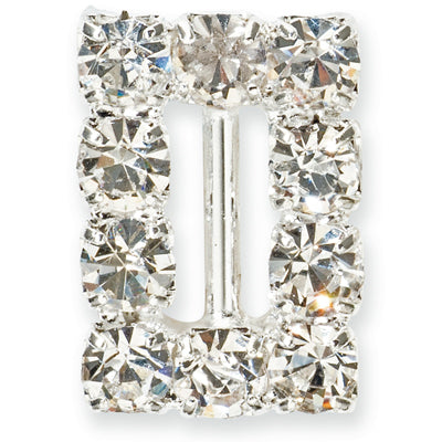 Diamante Buckle Rectangle 1.5cm x 1.2cm