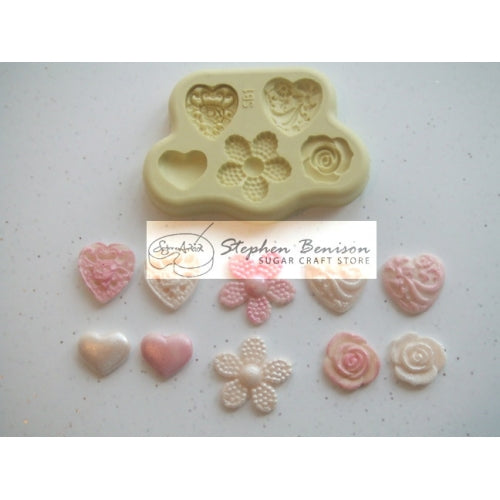 Benison Moulds - Decorative Button Accent (SB1)