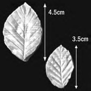 Great Impressions (SK) Leaf Veiners - Beech - set of 2 4.5cm/3.5cm.  GM01B002-02