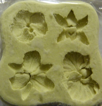 Diamond Paste Moulds - Orchids Mini - set of 4 Cattleya/Cymbidium/Moth/Dendrobium