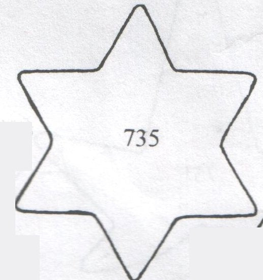 TinkerTech Two Cutters - Star of David 735 (45mm)