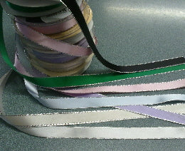 15mm Satin Ribbon with a Silver Metalic Edge