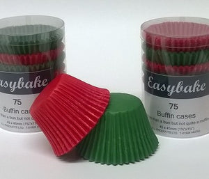 Buffin cases - Red/Green Pack of 75