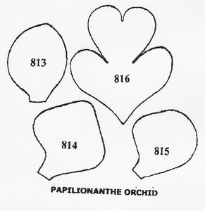 Orchid - Papilionanthe 813/814/815/816 (45mm).  TinkerTech Two Cutters