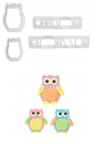 FMM Cutters - Mummy & Baby Owl Cutter set