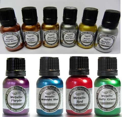 Paint - Rainbow Dust - Metallic Food Paint