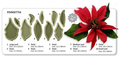 Jem Cutters Poinsettia set of 10 cutters (L5)