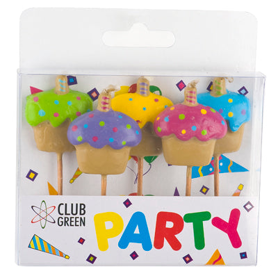 Candles - Cupcake pack of 5 (Club Green)