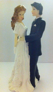 "Wedding Topper - Bride and Groom - Facing. 4½"". (Hamilworth)"