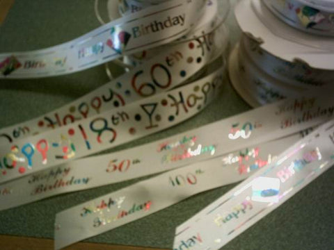 Birthday Number Ribbon