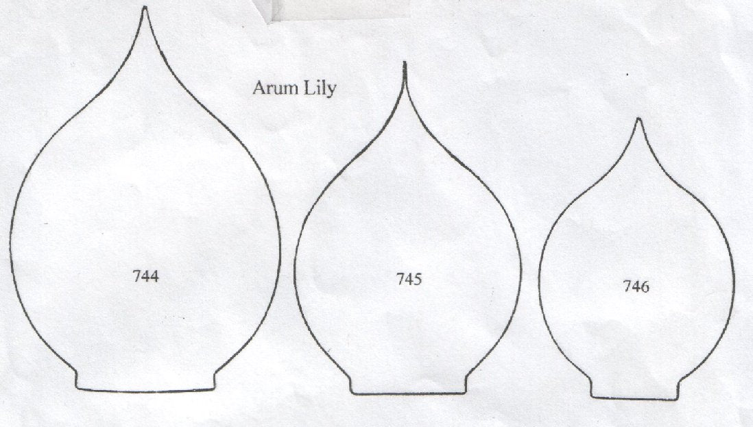 Arum (Calla) Lily - set of 3 744/745/746 (90mm, 75mm, 65mm).  TinkerTech Two Cutters