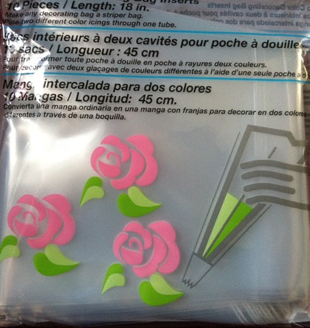 "2 Colour Piping Bag Inserts 18"" Pack of 10"
