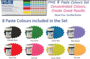PME Paste Colours set of 8 (Boxed)