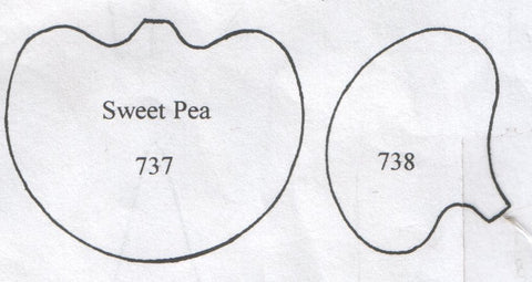 Sweet Pea separate inside petals 737/738  (48mm)  TinkerTech Two Cutters