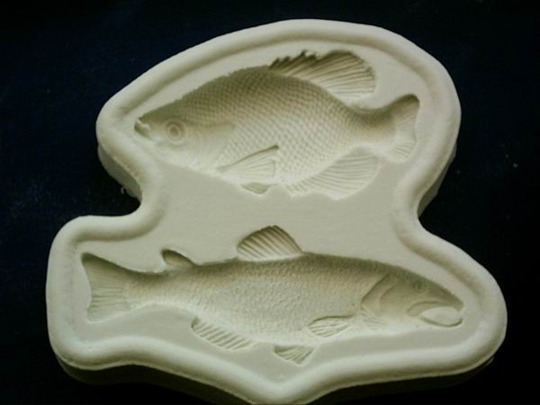 Diamond Paste Moulds - Fish  - Salmon and Carp