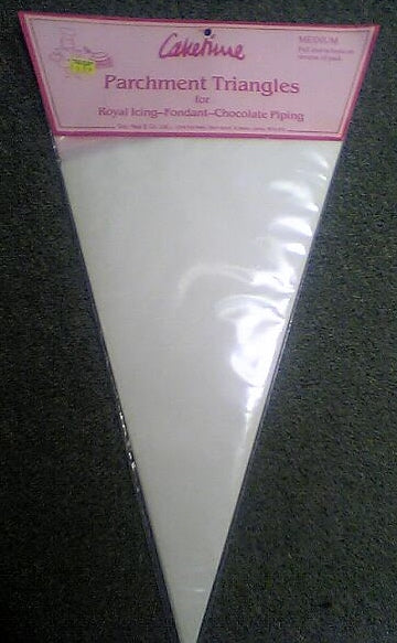 "Parchment Triangles - Medium 15"" (For piping bags)"