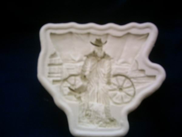 Diamond Paste Moulds - Cowboy and Wagon