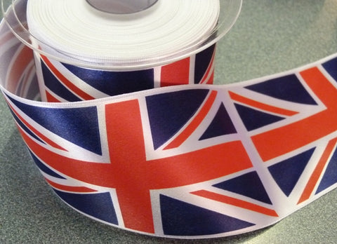 50mm Union Jack Ribbon