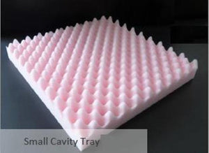 "Dimpled Foam 12"" square Pink  (Small Cavity) Pullinger"