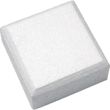 Polystyrene Dummy - Square (Chamfered)