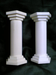 "Hamilworth Plastic Pillars 3.5"" - Hexagonal top and base with round column."