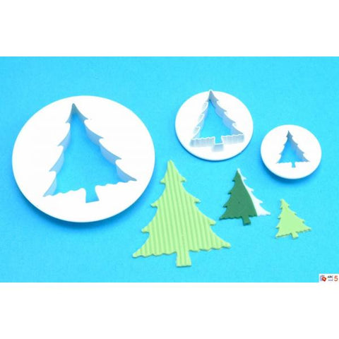 PME Cutters - Christmas Trees set of 3  1 Large, 1 medium and 1 small.