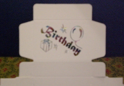 Birthday Cake Box.  Pack of 10.