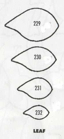 Leaves (Simple Leaf) - set of 4 229/230/231/232 - TinkerTech Two Cutters
