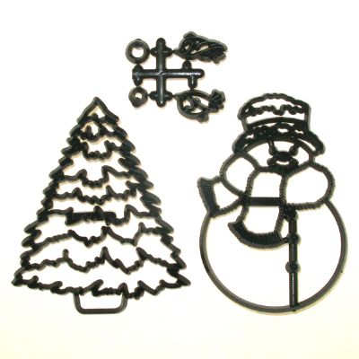 Patchwork Cutters - Large Snowman and Tree 100mm