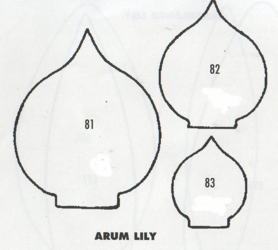 Arum (Calla) Lily - set of 3 81/82/83 (50mm, 35mm, 25mm).  TinkerTech Two Cutters