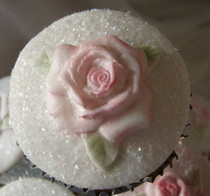 Karen Davies Mould - ROSE Cup Cake Top Mould.