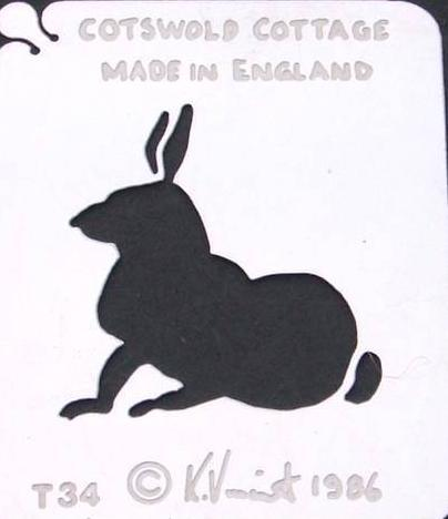 Stainless Steel Stencil - Rabbit  SALE