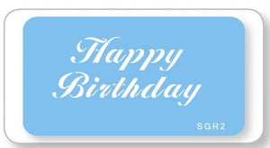 Jem Stencils - Happy Birthday 90 X 40mm