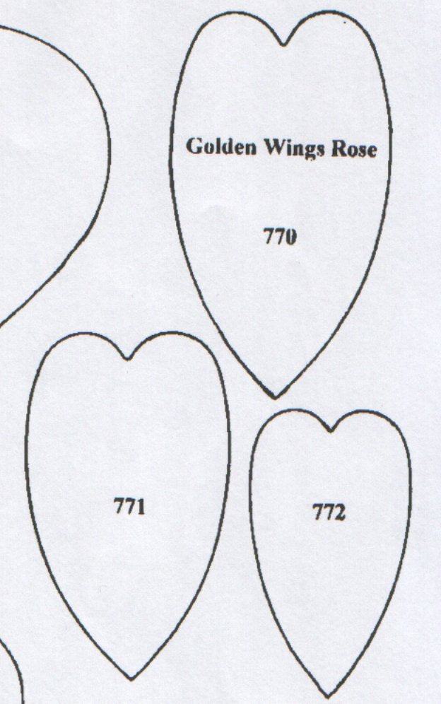 Rose Golden Wings 770/771/772 (70mm, 60mm, 50mm)  TinkerTech Two Cutters