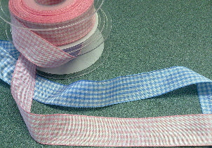 Gingham Ribbon 25mm