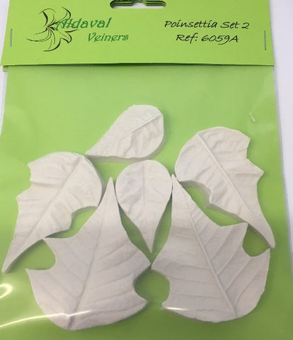 Aldaval - Poinsettia Petal and Leaf Veiners set of 3