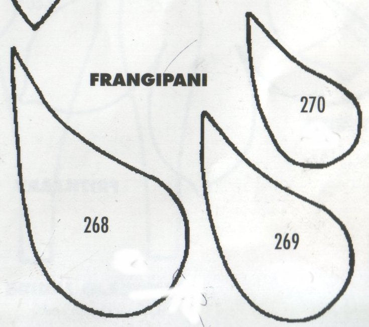 Frangipani - set of 3 268/269/270 (50mm, 45mm, 30mm).  TinkerTech Two Cutters