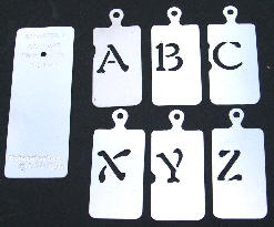 Stainless Steel Stencil - Alphabet set SALE