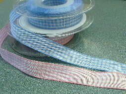 Gingham Ribbon 15mm