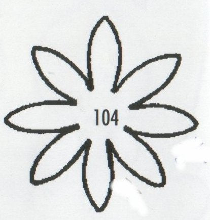 Daisy 8 Petal Pointed 104 (33mm).  TinkerTech Two Cutters