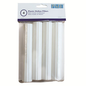 "Plastic Hollow Pillars 6"" Pack of 4 (PME)"