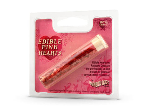 Edible Pink Hearts