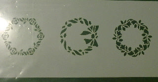 SF108 Minature Wreaths stencil - 3 Designs.